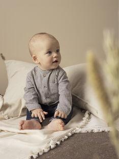 Boys' indigo striped shirt TUYAU 19 / 19VV2371N0A703