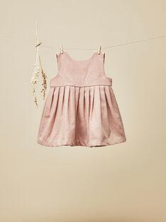 Baby girls' petal pink pinafore dress VINCIANE 19 / 19IU1913N18309