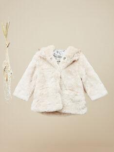 Girls' powder pink hooded coat VAVILMA 19 / 19IU1931N16D327
