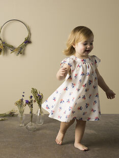 Girls' vanilla flowered dress TORIETTE 19 / 19VU1914N18114