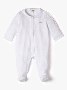 Unisex fancy ribbed sleepsuit in white ANOURS 20 / 20PV7612N31000